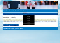 Exeter Airport Car Parking Online Database Driven Admin Area Example 1