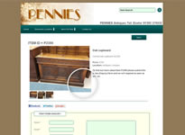 Pennies Antiques Example 2 Database Driven Products