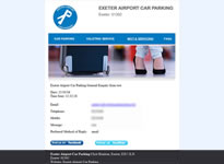 Exeter Airport Car Parking Example 4 Custom Email